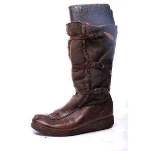 UGG Women's Bomber Boots Wedge Heel boots suede 10